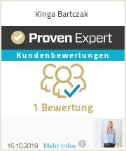 Erfahrungen & Bewertungen zu Kinga Bartczak