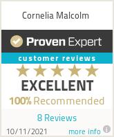 Ratings & reviews for Cornelia Malcolm