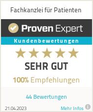 Erfahrungen & Bewertungen zu Fachkanzlei für Patienten