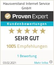 Erfahrungen & Bewertungen zu Hausverstand Internet Service GmbH