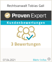 Erfahrungen & Bewertungen zu Rechtsanwalt Tobias Gall