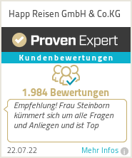 Erfahrungen & Bewertungen zu Happ Reisen GmbH & Co.KG