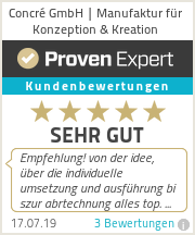 Erfahrungen & Bewertungen zu Concré GmbH | Manufaktur für Konzeption & Kreation