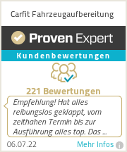 Erfahrungen & Bewertungen zu Carfit Fahrzeugaufbereitung