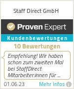 Erfahrungen & Bewertungen zu Staff Direct GmbH