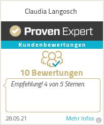Erfahrungen & Bewertungen zu Claudia Langosch