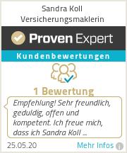 Erfahrungen & Bewertungen zu Sandra Koll Versicherungsmaklerin