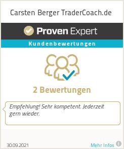 Erfahrungen & Bewertungen zu Carsten Berger TraderCoach.de