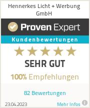 Erfahrungen & Bewertungen zu Hennerkes Licht + Werbung GmbH