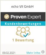 Erfahrungen & Bewertungen zu echo VII UG