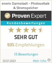 Erfahrungen & Bewertungen zu enerix Darmstadt - Photovoltaik & Stromspeicher
