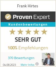 Erfahrungen & Bewertungen zu Frank Hirtes
