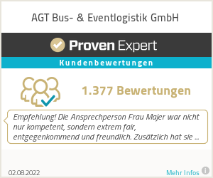 Reviews & ratings of AGT Busvermietung & Touristik GmbH