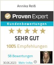 Erfahrungen & Bewertungen zu Annika Reiß