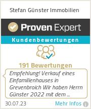 Erfahrungen & Bewertungen zu Stefan Günster Immobilien