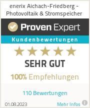 Erfahrungen & Bewertungen zu enerix Aichach-Friedberg - Photovoltaik & Stromspeicher