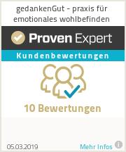 Erfahrungen & Bewertungen zu gedankenGut - praxis für emotionales wohlbefinden