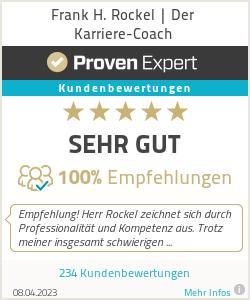 Erfahrungen & Bewertungen zu Frank H. Rockel | Der Karriere-Coach