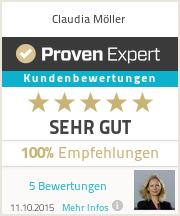 Erfahrungen & Bewertungen zu Claudia Möller