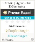 Erfahrungen & Bewertungen zu ECOMAI | Agentur für E-Commerce