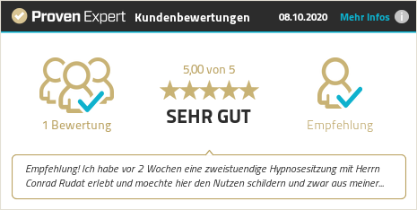 Kundenbewertungen & Erfahrungen zu Conrad Rudat Coaching & Hypnose. Mehr Infos anzeigen.