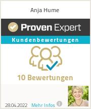 Erfahrungen & Bewertungen zu Anja Hume