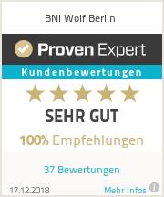 Erfahrungen & Bewertungen zu WOLF BNI Berlin