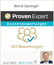 Erfahrungen & Bewertungen zu Bernd Gasteiger