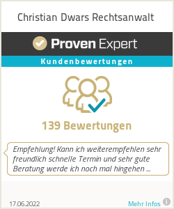 Erfahrungen & Bewertungen zu Christian Dwars Rechtsanwalt