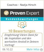 Erfahrungen & Bewertungen zu Coachoo - Nadja Hirsch
