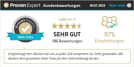 Kundenbewertungen & Erfahrungen zu VIVAT Immobilien GmbH. Mehr Infos anzeigen.