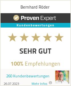 Erfahrungen & Bewertungen zu Bernhard Röder