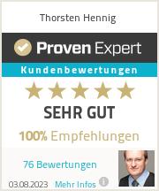 Erfahrungen & Bewertungen zu Thorsten Hennig