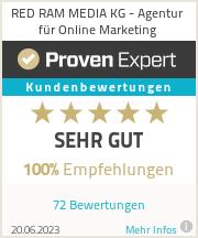Erfahrungen & Bewertungen zu RED RAM MEDIA KG - Agentur für Online Marketing