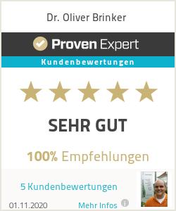 Erfahrungen & Bewertungen zu Dr. Oliver Brinker