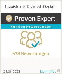 Erfahrungen & Bewertungen zu Praxisklinik Dr. med. Decker