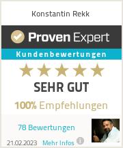 Erfahrungen & Bewertungen zu Konstantin Rekk