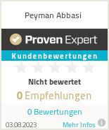 Erfahrungen & Bewertungen zu Peyman Abbasi