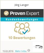Erfahrungen & Bewertungen zu Jörg Langer