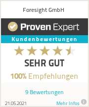 Erfahrungen & Bewertungen zu Forseight GmbH