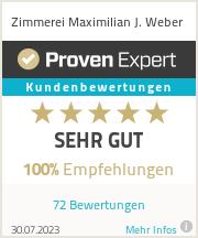 Erfahrungen & Bewertungen zu Zimmerei Maximilian J. Weber