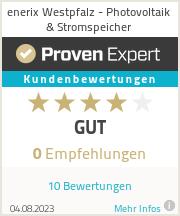 Erfahrungen & Bewertungen zu enerix Westpfalz - Photovoltaik & Stromspeicher