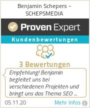 Erfahrungen & Bewertungen zu Benjamin Schepers - schepsmedia
