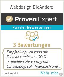 Erfahrungen & Bewertungen zu Webdesign DieAndere
