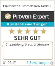 Erfahrungen & Bewertungen zu Blumenthal Immobilien GmbH