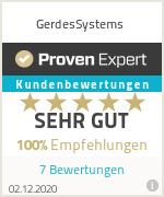 Erfahrungen & Bewertungen zu GerdesSystems