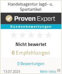 Erfahrungen & Bewertungen zu Handelsagentur Jagd- u. Sportartikel