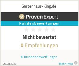 Erfahrungen & Bewertungen zu Gartenhaus-King.de