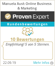 Erfahrungen & Bewertungen zu Manuela Aust: Online Business & Marketing