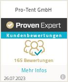 Erfahrungen & Bewertungen zu Pro-Tent GmbH